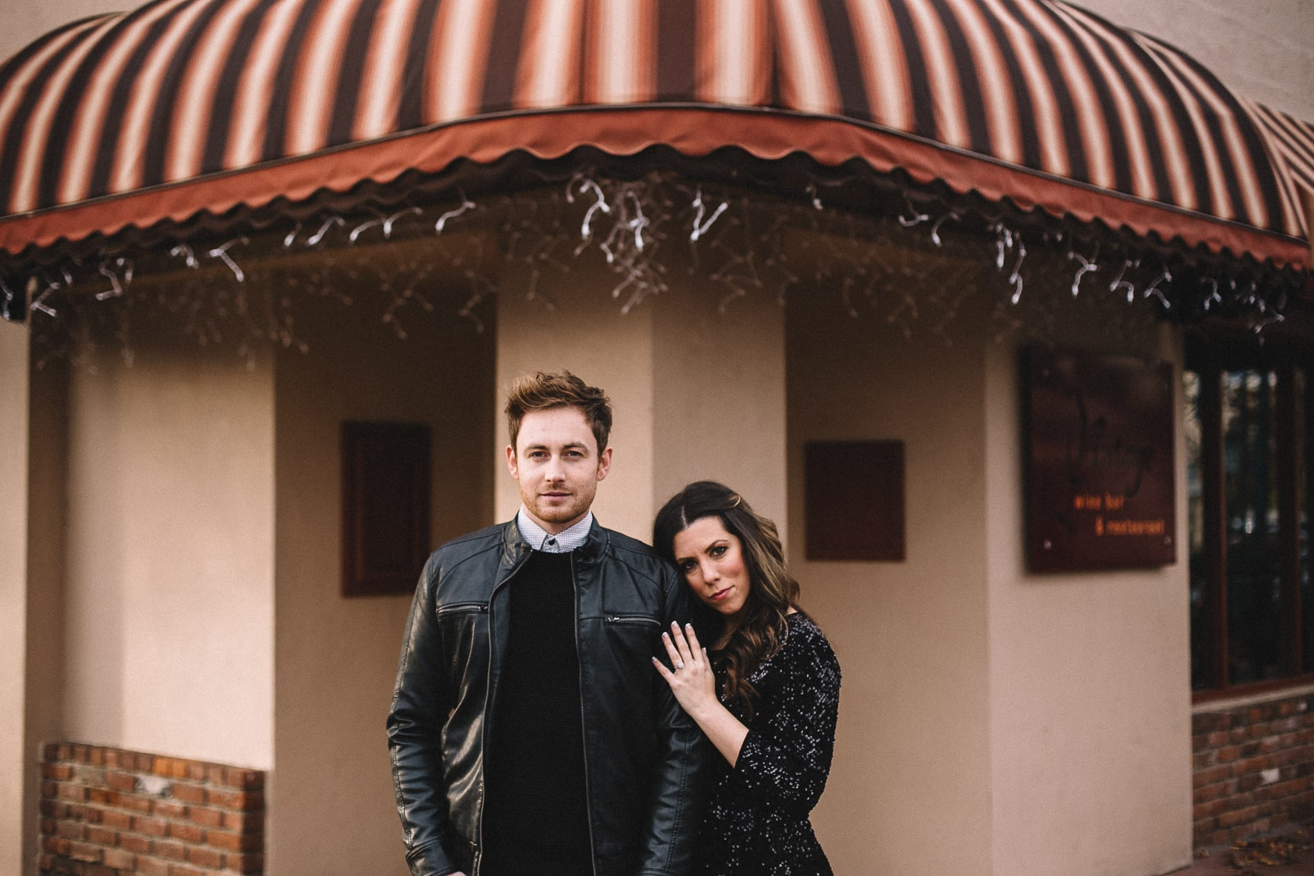 Vintage Wine Bar Downtown Redding Engagement Photo 2
