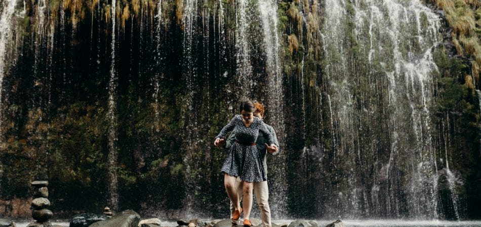 Taylor + Megan | Mossbrae Falls | Dunsmuir California Engagement Photographer