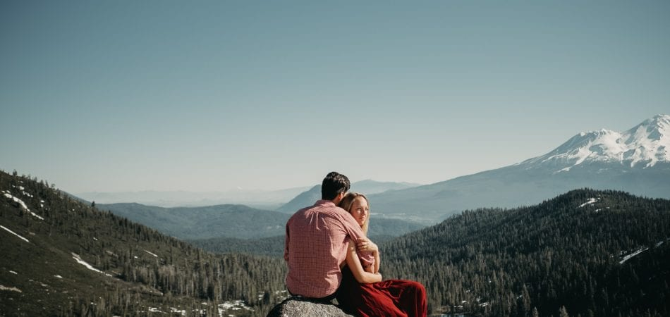 Jake & Lacey | Heart Lake Mt Shasta California Engagement Photographer